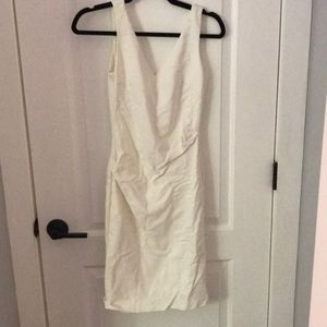 White dress with vneck front and back